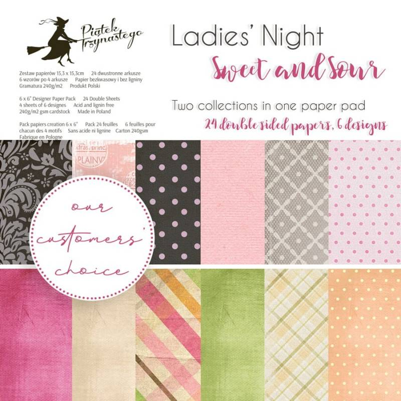 """Bloczek papierów Ladies' Night + Sweet and Sour, 6x6"""""""