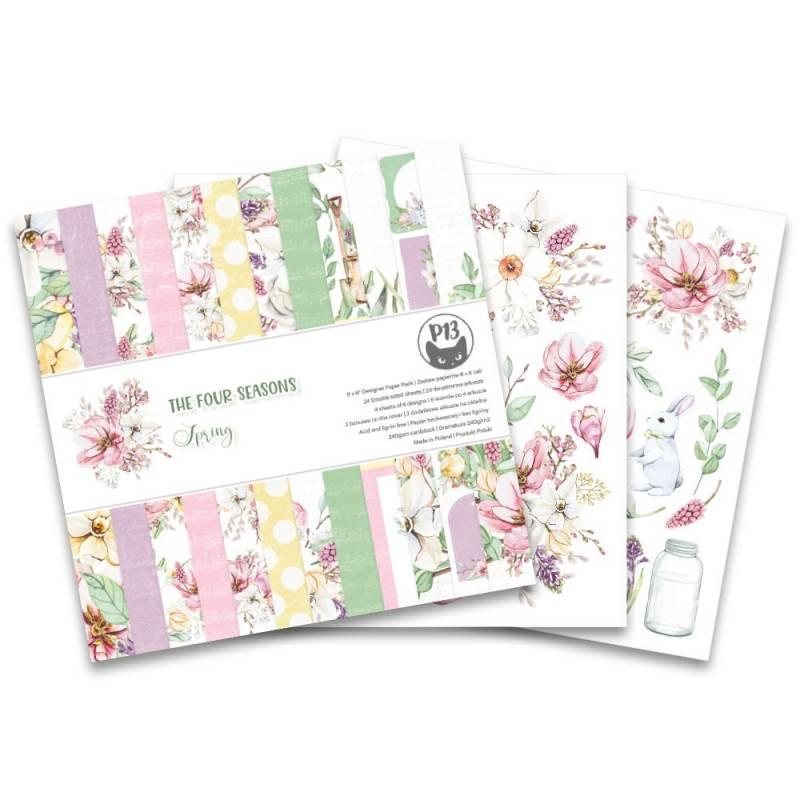 """Bloczek papierów The Fours Seasons - Spring, 6x6"""""""