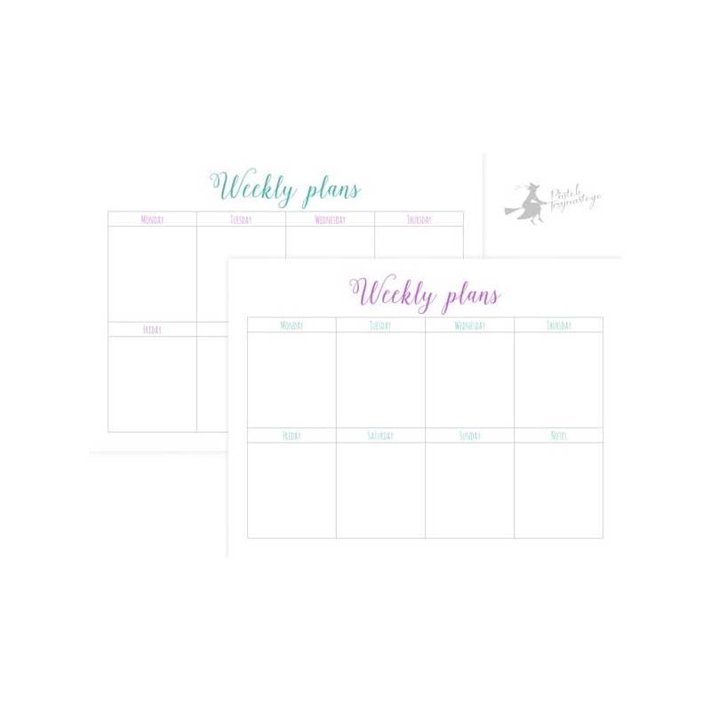 Zestaw arkuszy planerowych Weekly Plans, 15x20cm