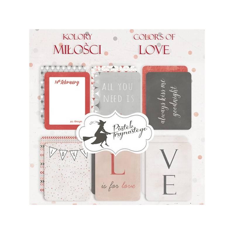 """Zestaw kart do journalingu Kolory Miłości, 3x4"""""""