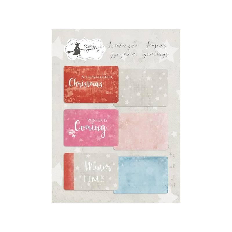 """Zestaw kart do journalingu Świąteczne Życzenia, 6x4"""""""