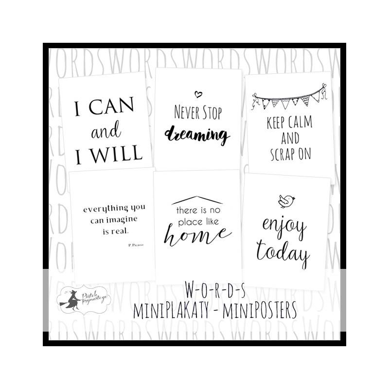 Zestaw miniPlakatów Words, 15 x 20cm