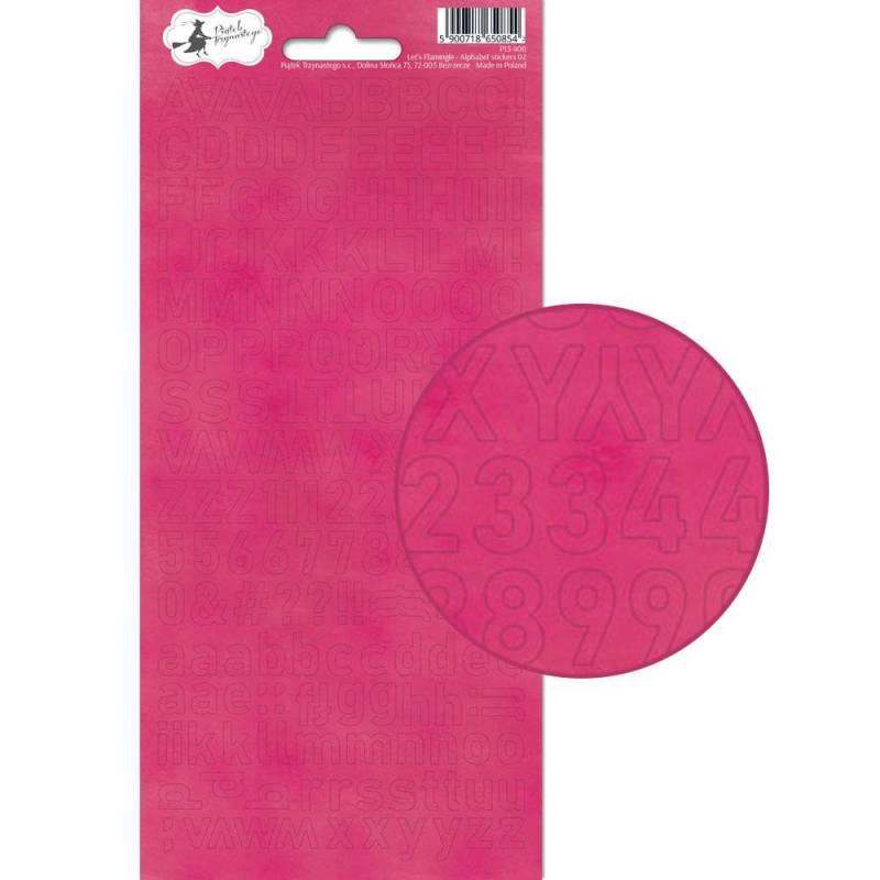 Arkusz naklejek z literkami Let's Flamingle 02, 10,5 x 23cm