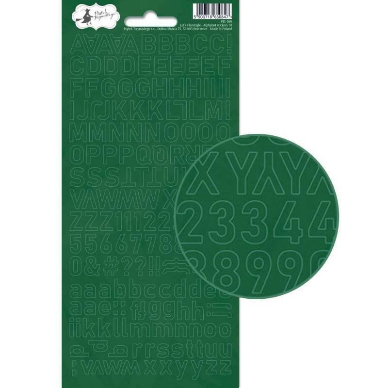 Arkusz naklejek z literkami Let's Flamingle 01, 10,5 x 23cm