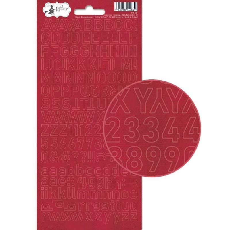 Arkusz naklejek z literkami Rosy Cosy Christmas 01, 10,5 x 23cm