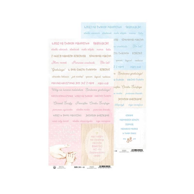 """Papier Baby Joy 08, 6x12"""""""
