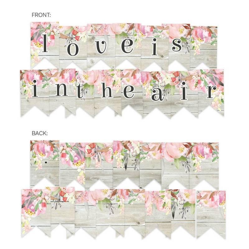 Banerek / die cut Love in Bloom, 15szt.