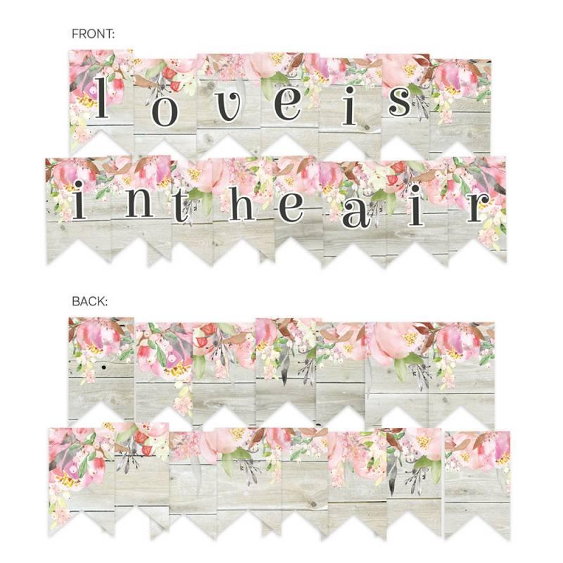 Banerek / die cut Love in Bloom, 15 szt.