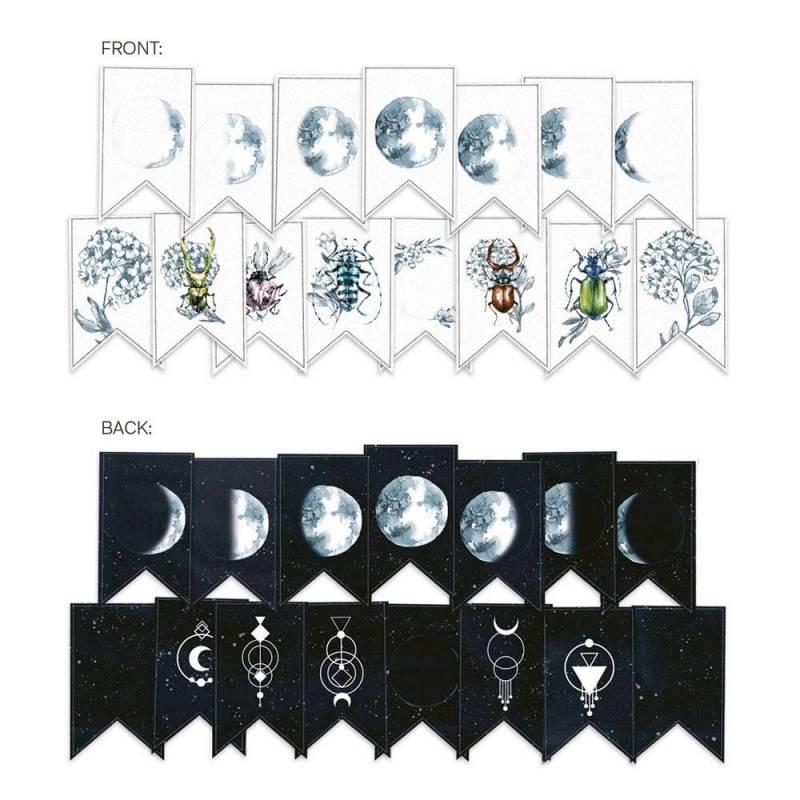 Banerek / die cut New moon, 15szt.