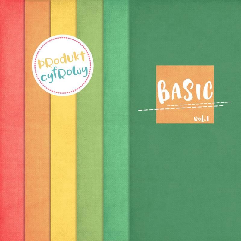 Kolekcja papierów Basic 01, 6 szt