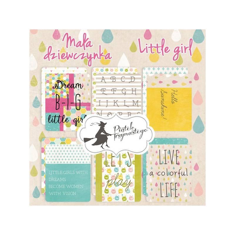 """Zestaw kart do journalingu Mała dziewczynka, 3x4"""""""