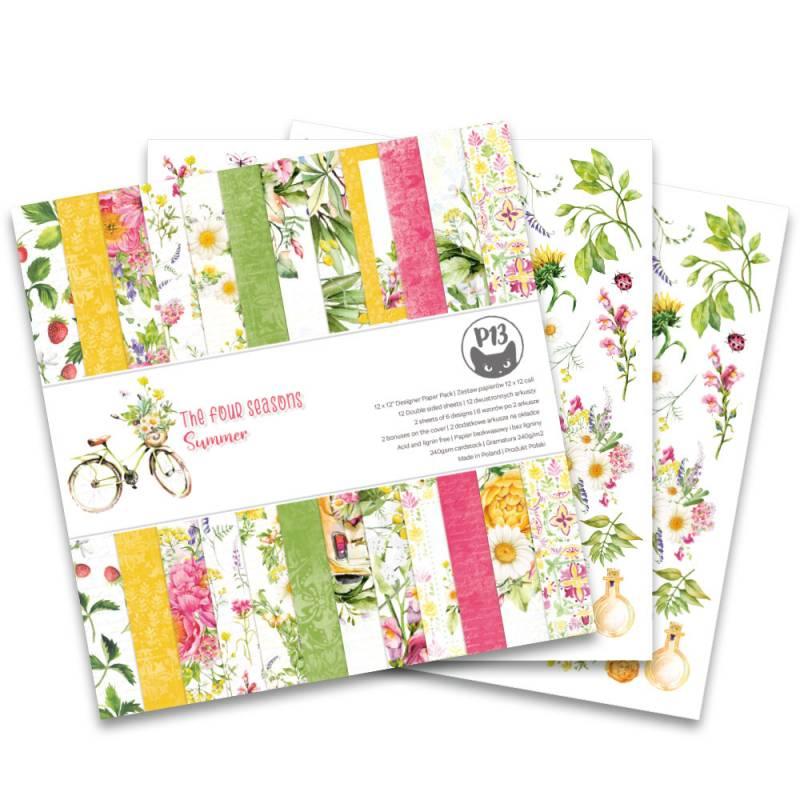 "Bloczek papierów The Four Seasons - Summer, 12x12"""