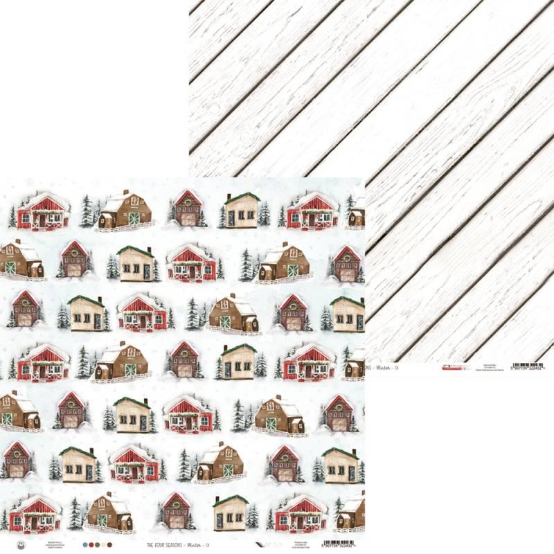 "Papier The Four Seasons - Winter 01, 12x12"""