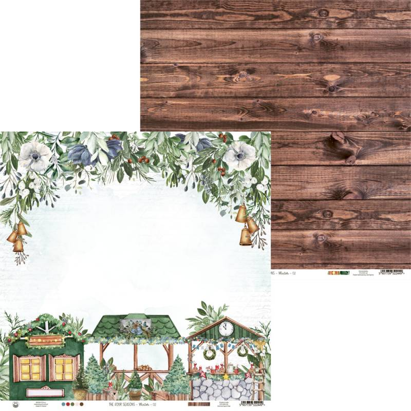 "Papier The Four Seasons - Winter 02, 12x12"""