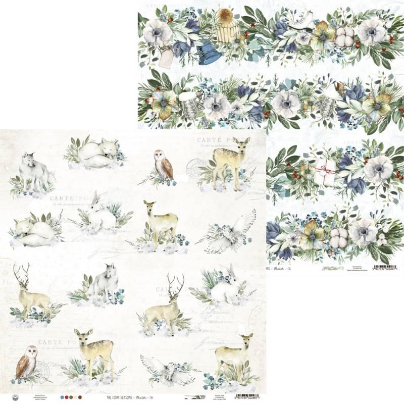 "Papier The Four Seasons - Winter 06, 12x12"""