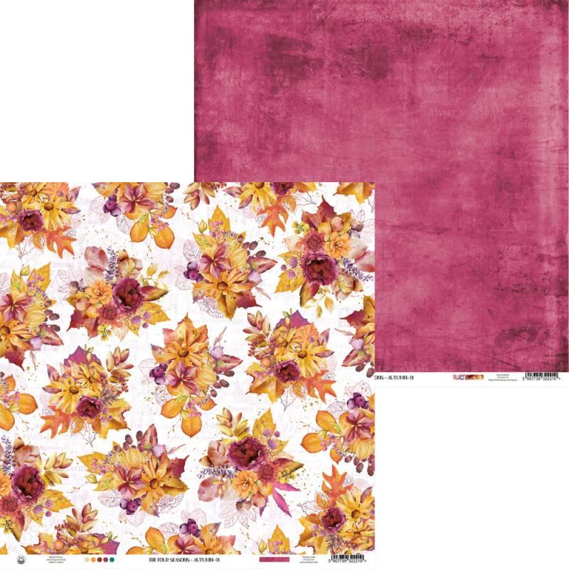 "Paper The Four Seasons - Autumn 01, 12x12"""