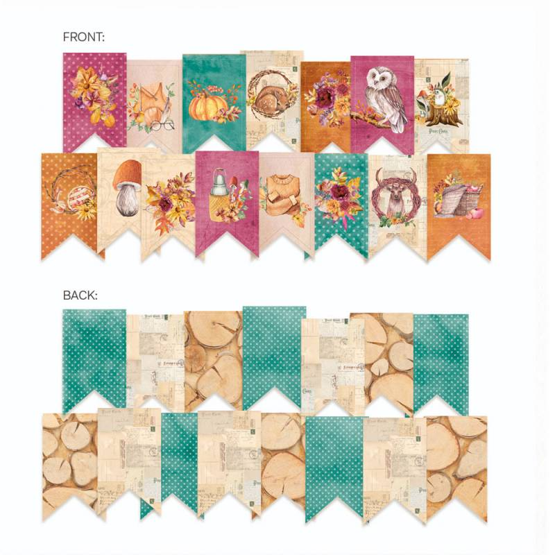 Banerek / die cut The Four Seasons - Autumn, 15szt.