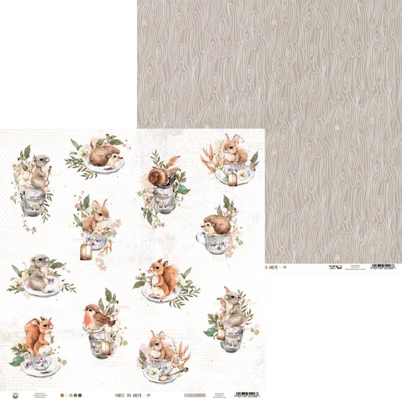 """Papier Forest tea party 01, 12x12"""""""