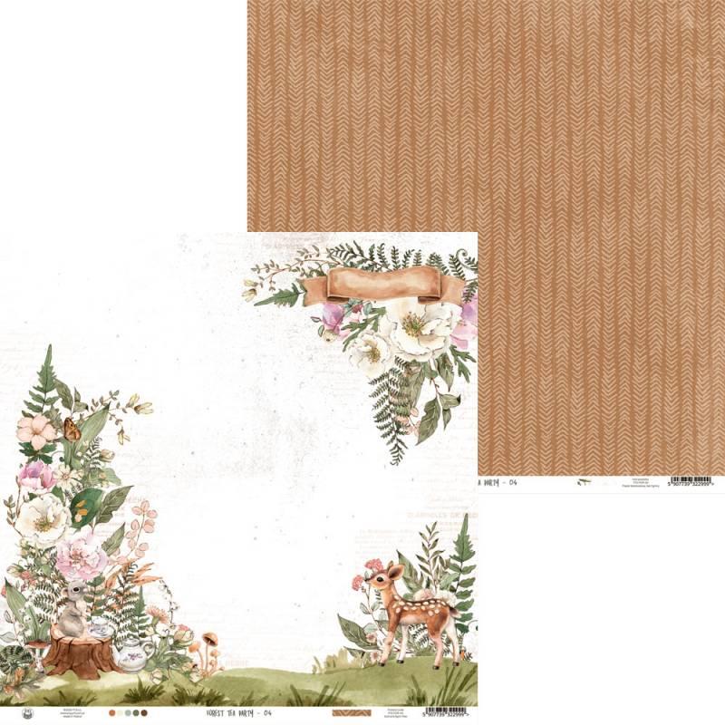 """Papier Forest tea party 04, 12x12"""""""