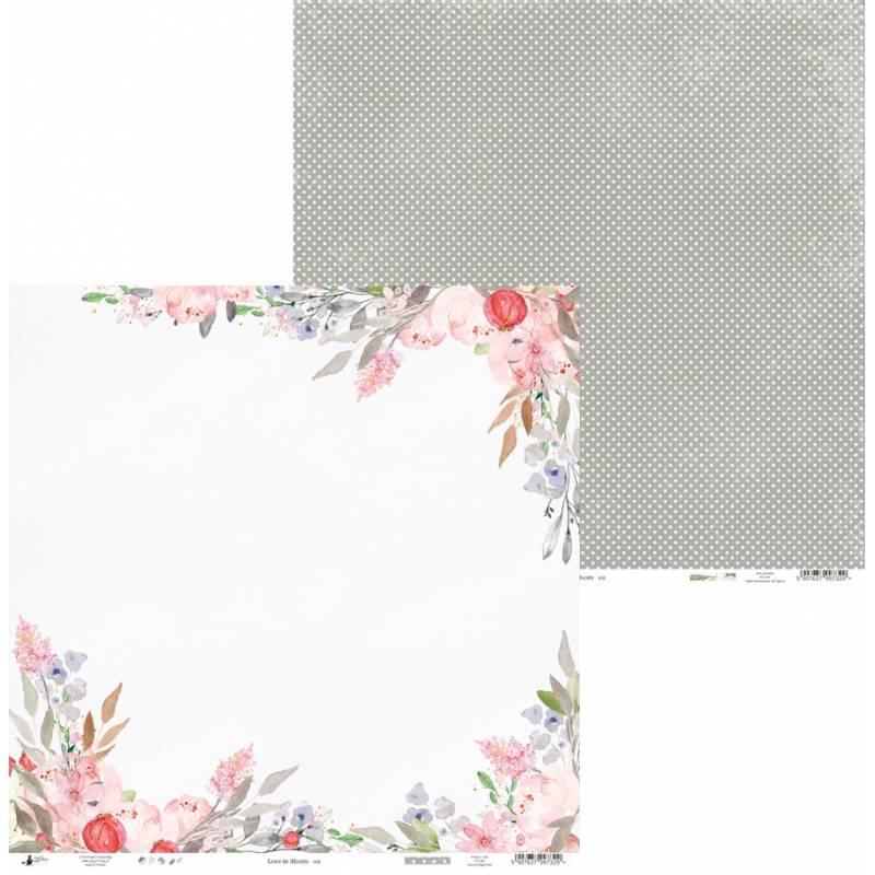 "Papier Love in Bloom 02, 12x12"""