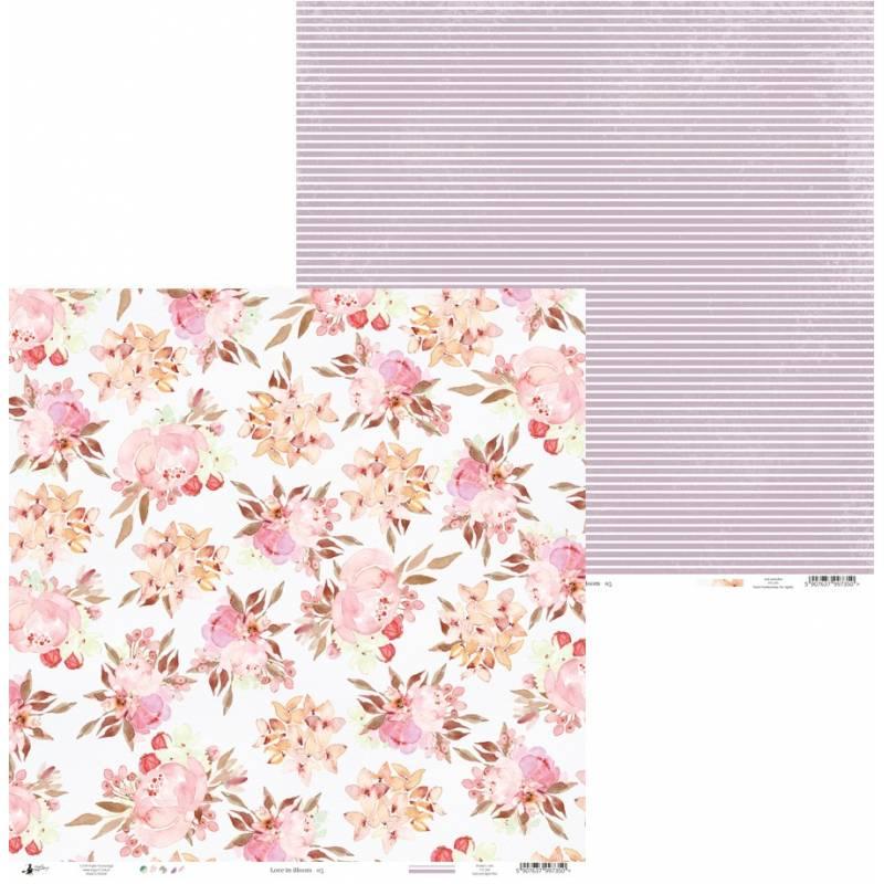 "Papier Love in Bloom 05, 12x12"""