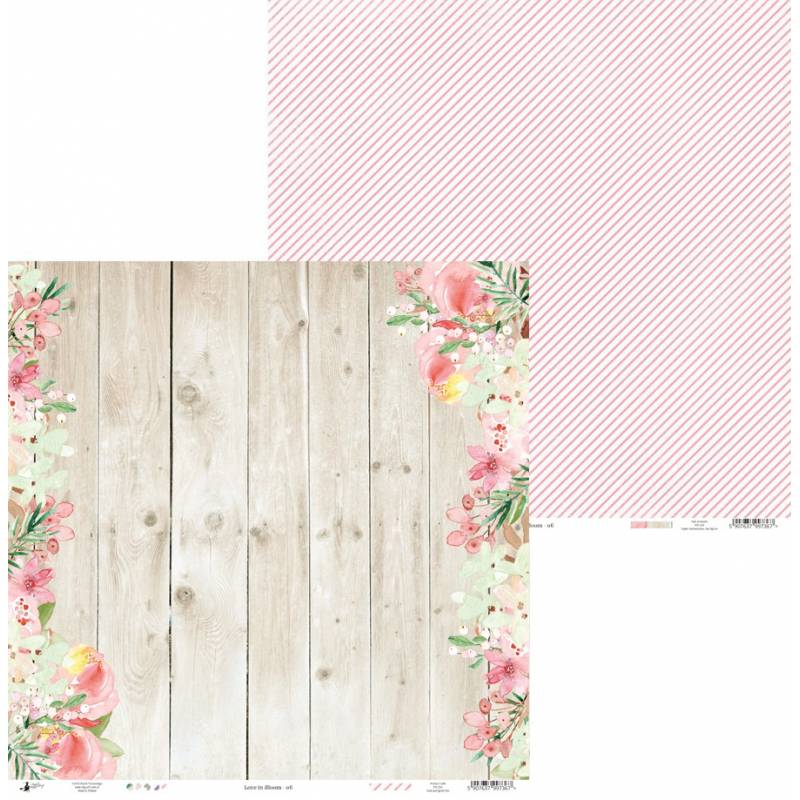 "Papier Love in Bloom 06, 12x12"""