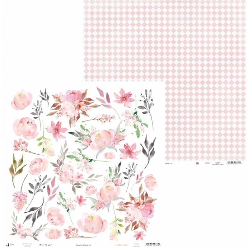 "Papier Love in Bloom 07, 12x12"""