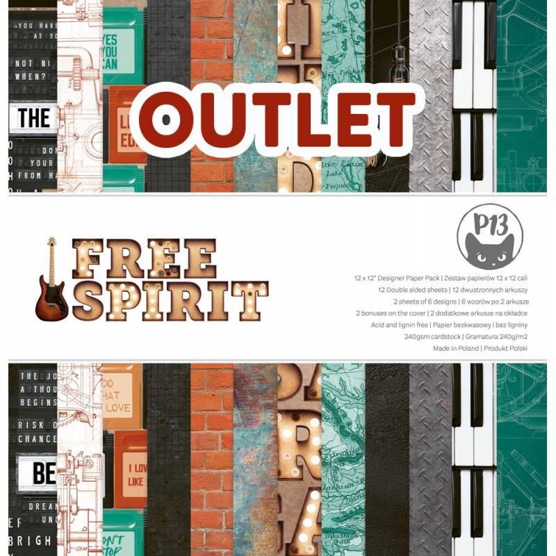 "Bloczek papierów Free Spirit, 12x12"" OUTLET"