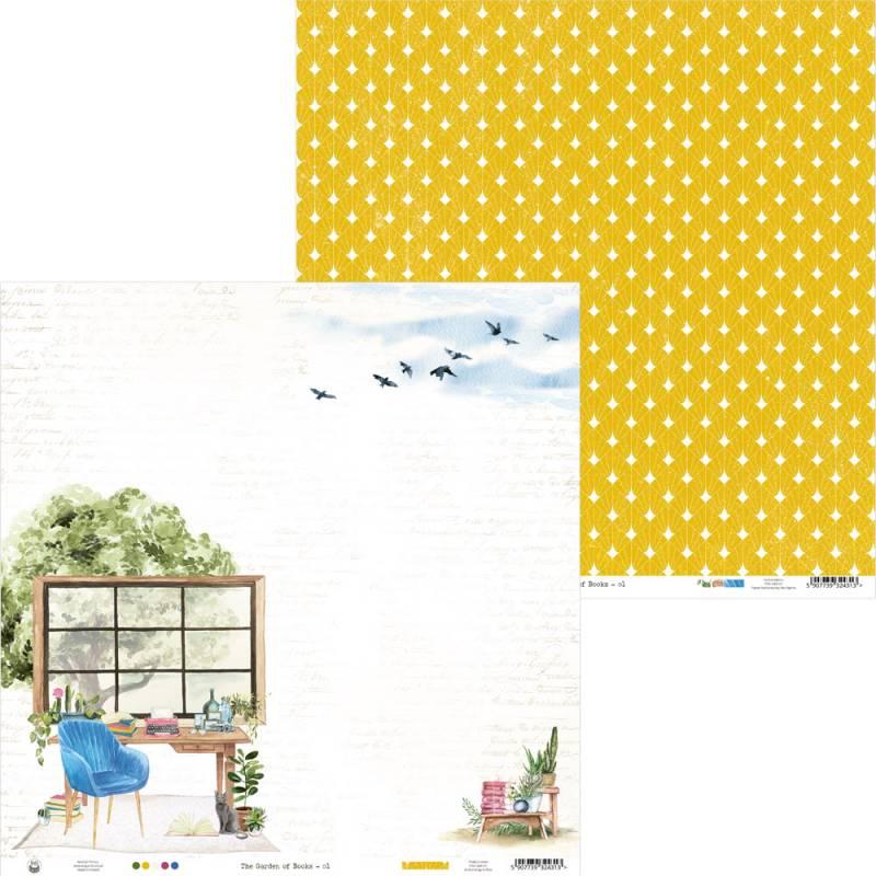 "Papier The Garden of Books 01, 12x12"""