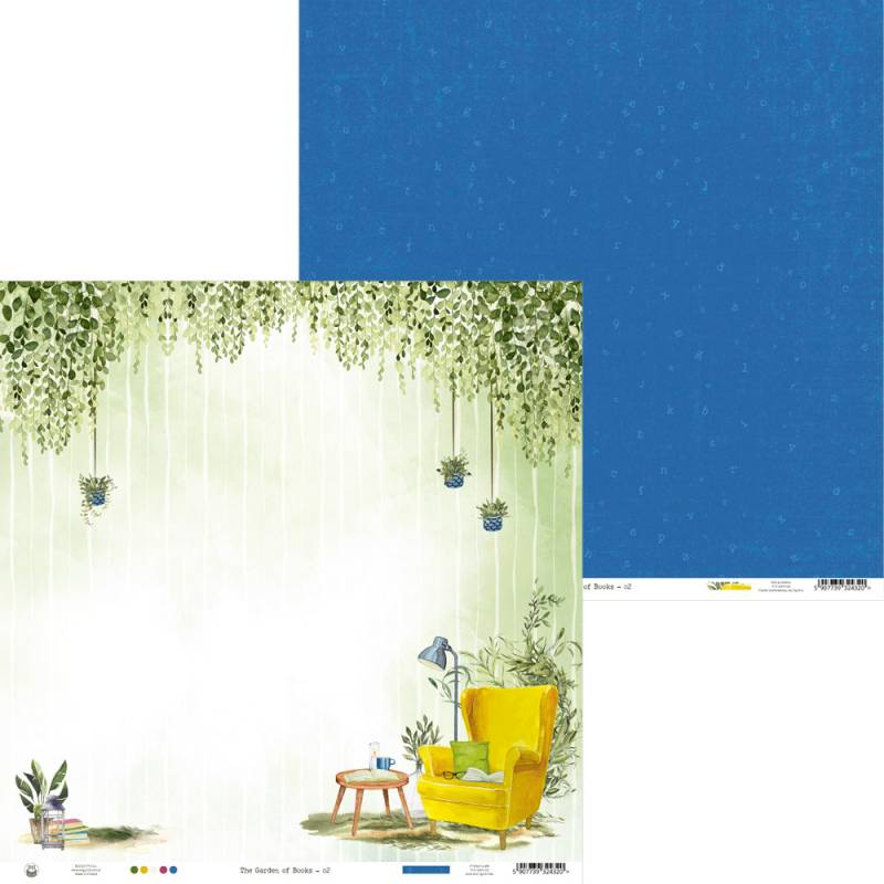 """Papier Garden of Books 02, 12x12"""""""