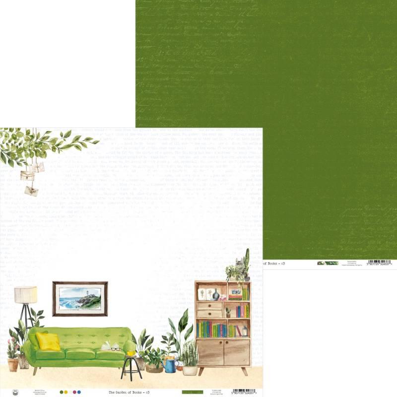 "Papier The Garden of Books 03, 12x12"""