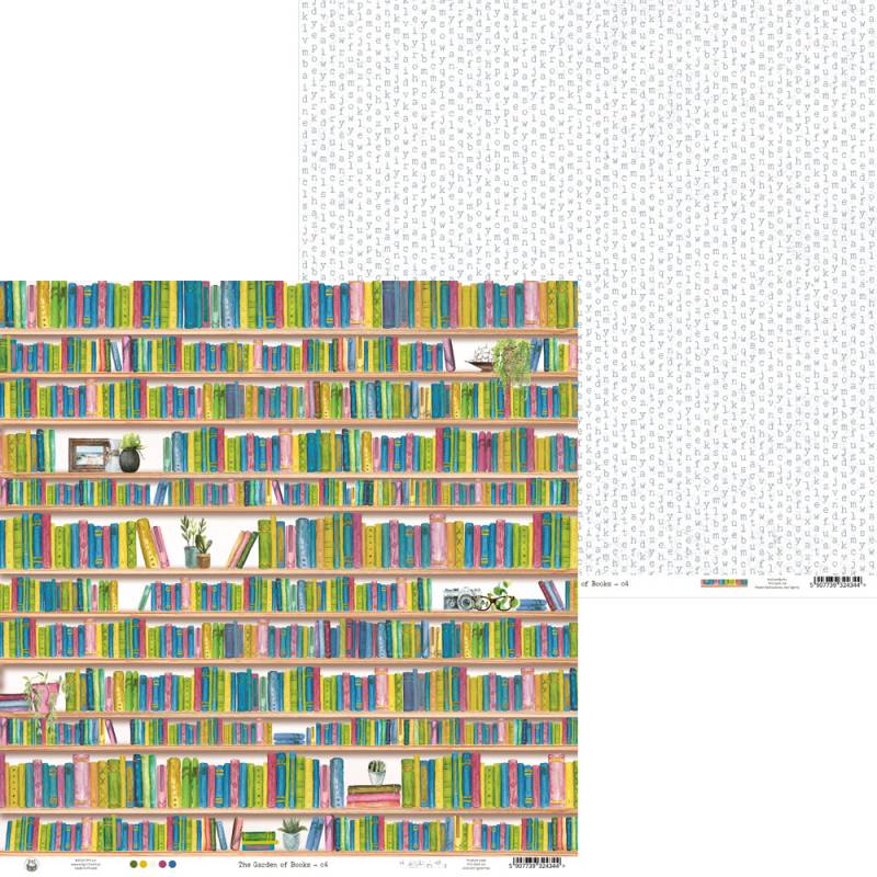 """Papier Garden of Books 04, 12x12"""""""
