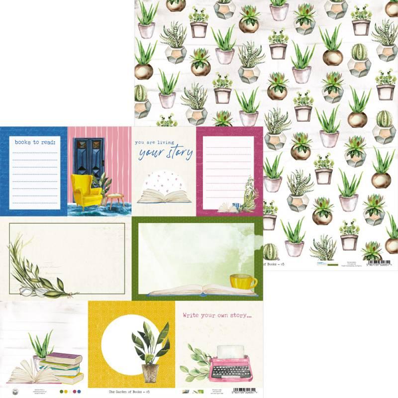 "Papier The Garden of Books 05, 12x12"""