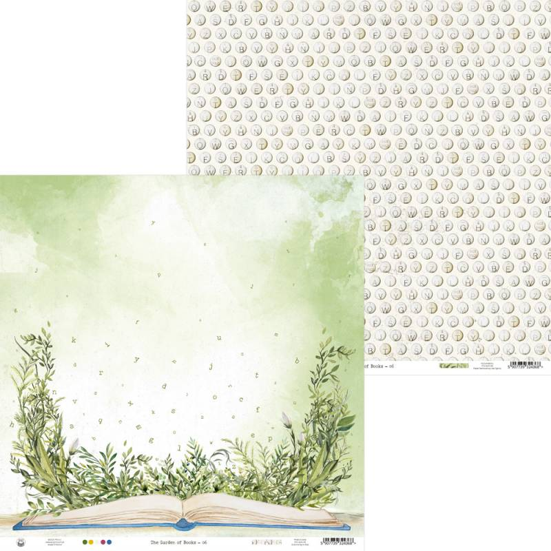 "Papier The Garden of Books 06, 12x12"""