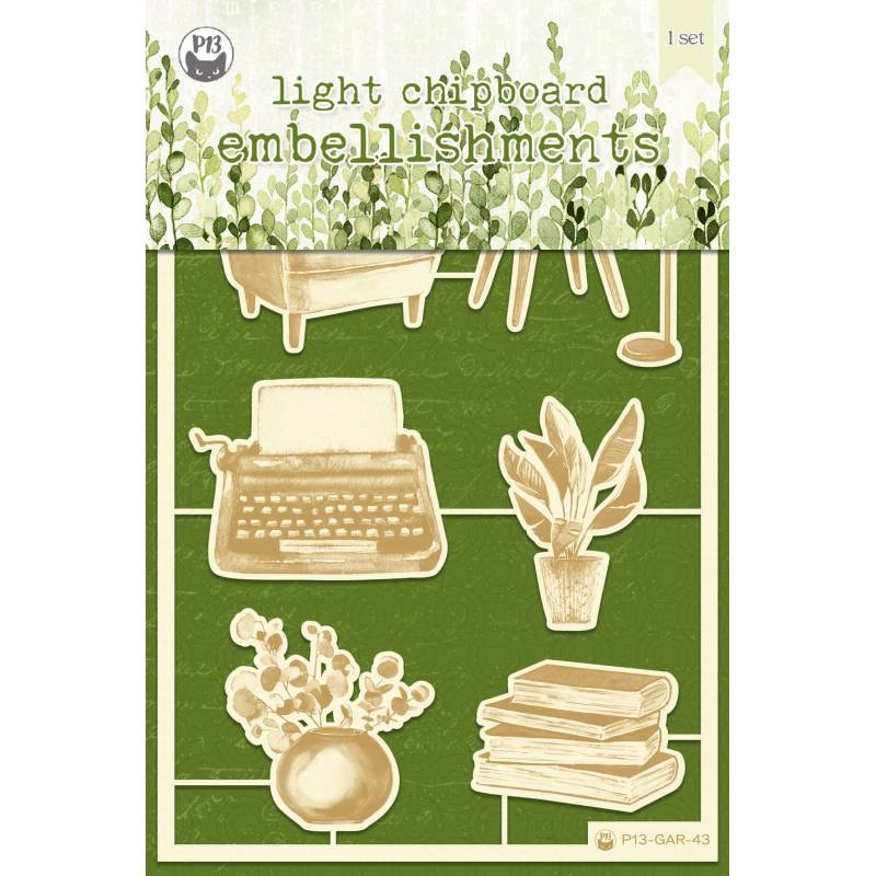 "Zestaw tekturek The Garden of Books 01, 4x6"", 7szt."