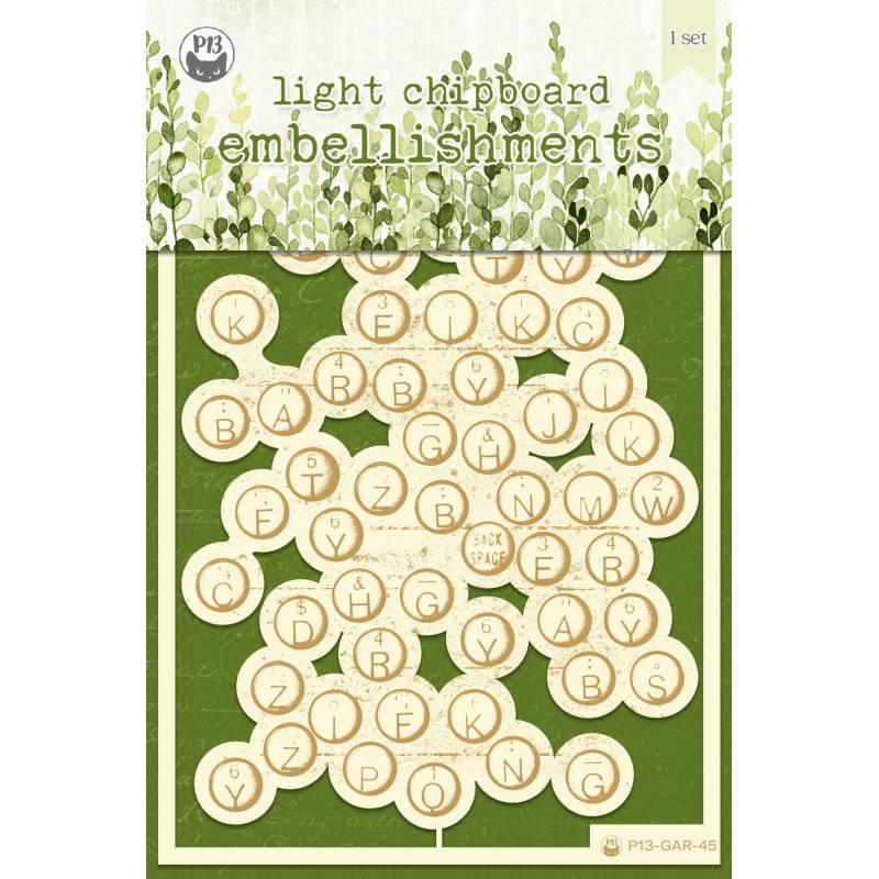 "Zestaw tekturek The Garden of Books 03, 4x6"", 1szt."