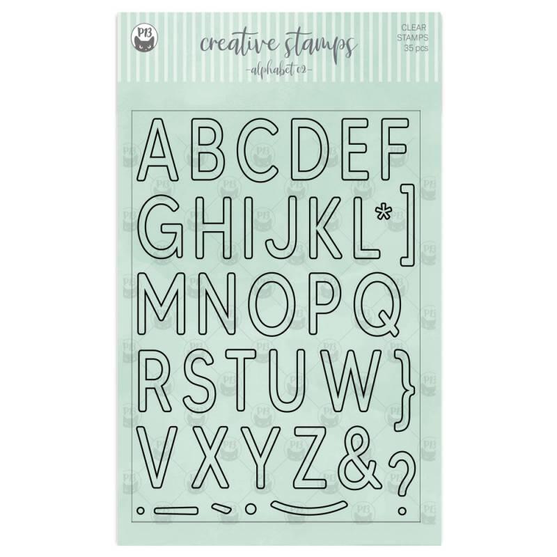 Zestaw stempli Alfabet 02 A5, 35szt.