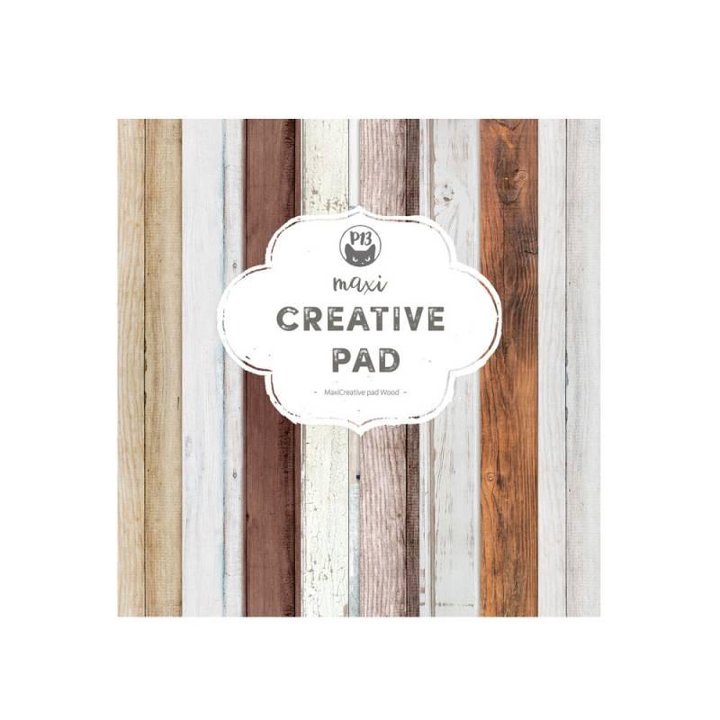 "Maxi Creative Pad Wood, 12x12"""