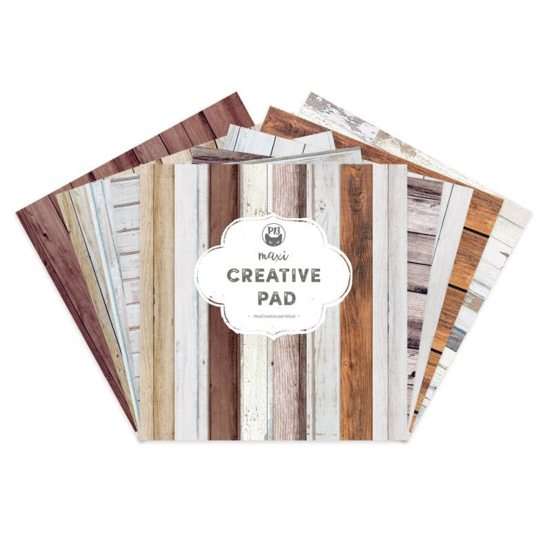 Maxi Creative Pad Wood, 12x12""