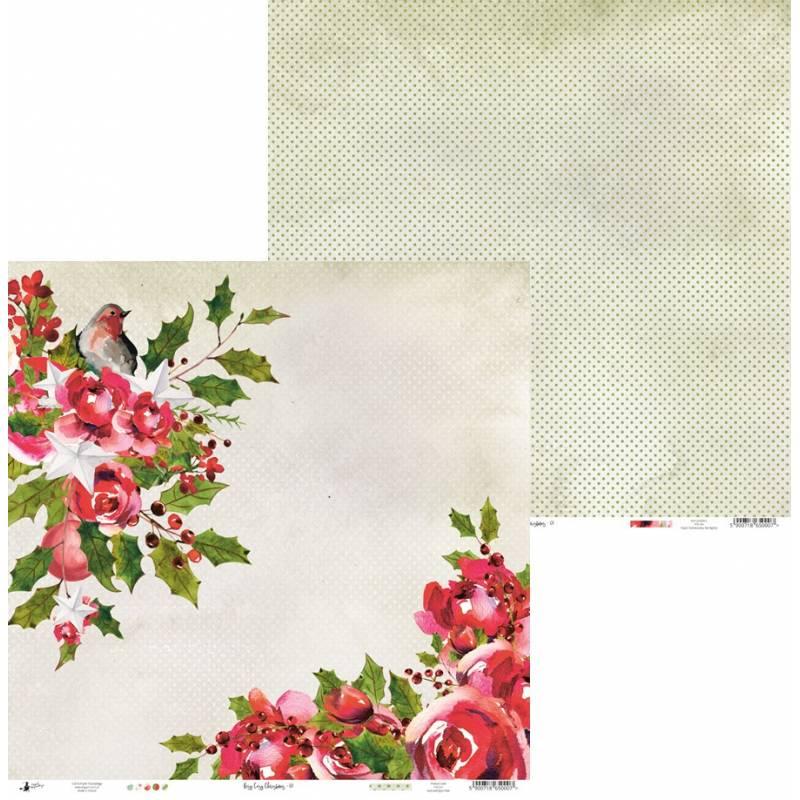 "Papier Rosy Cosy Christmas 01, 12x12"""