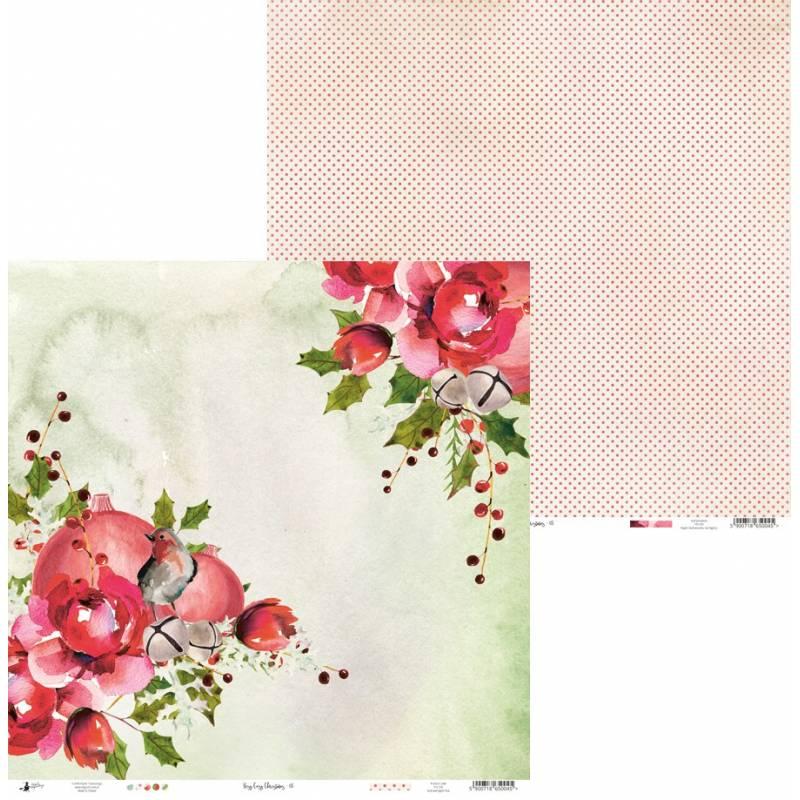 "Papier Rosy Cosy Christmas 05, 12x12"""