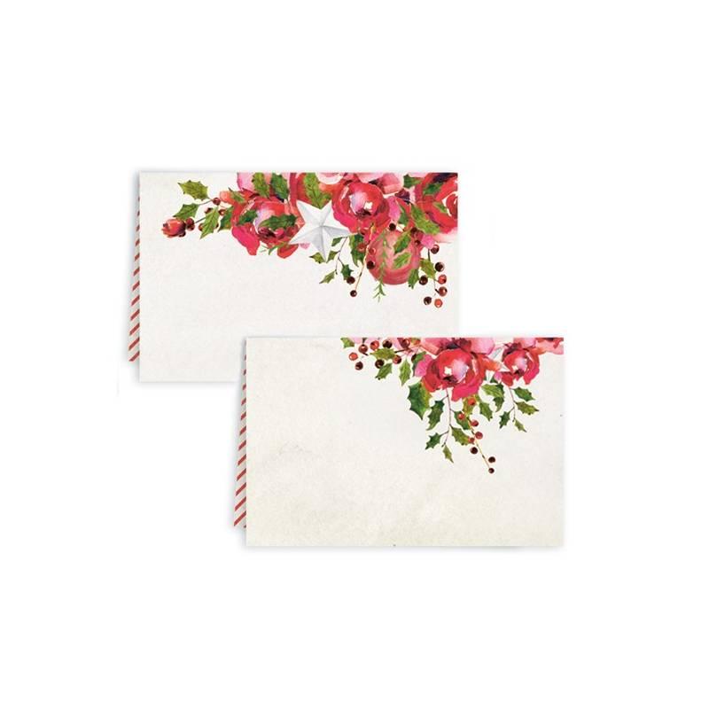 Zestaw wizytówek na stół Rosy Cosy Christmas, 10szt.