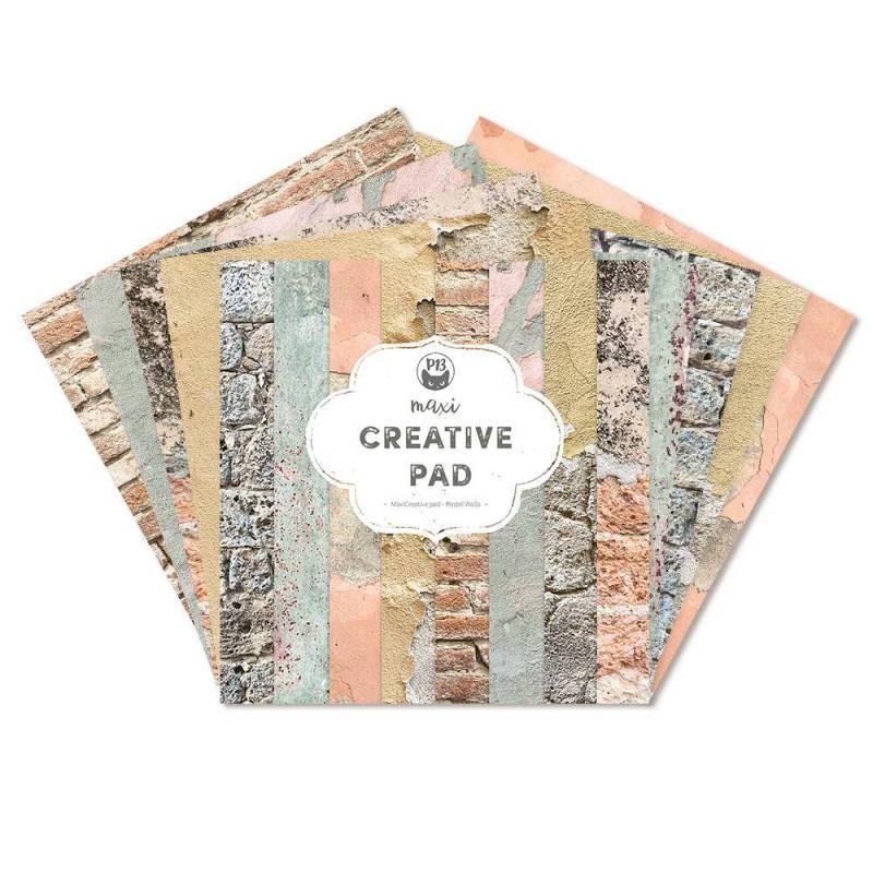 """Maxi Creative Pad Pastel Walls, 12x12"""""""
