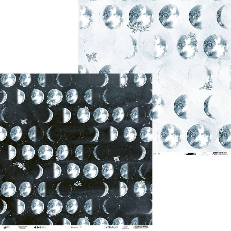 "Papier New moon 01, 12x12"""