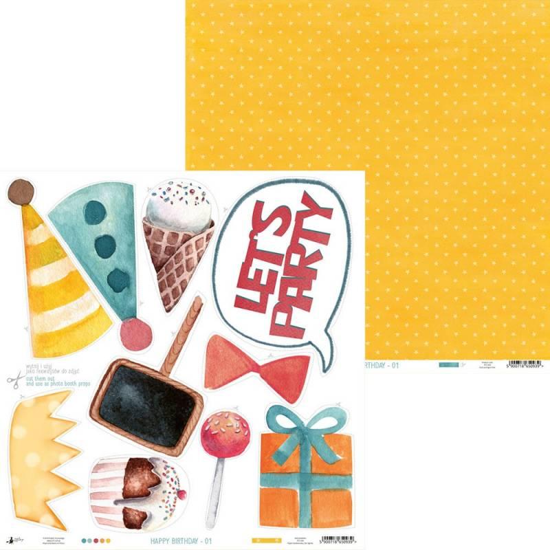 """Papier Happy Birthday 01, 12x12"""""""
