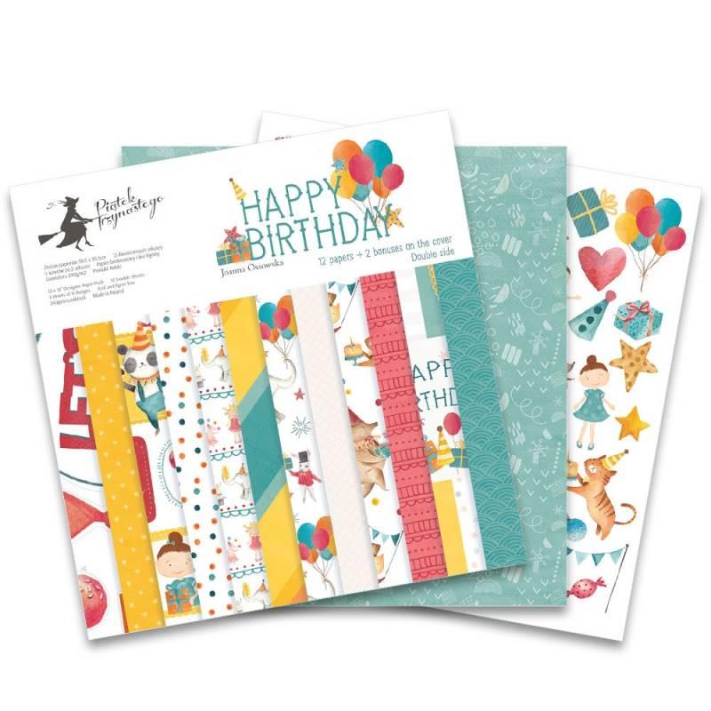"""Bloczek papierów Happy Birthday, 12x12"""""""
