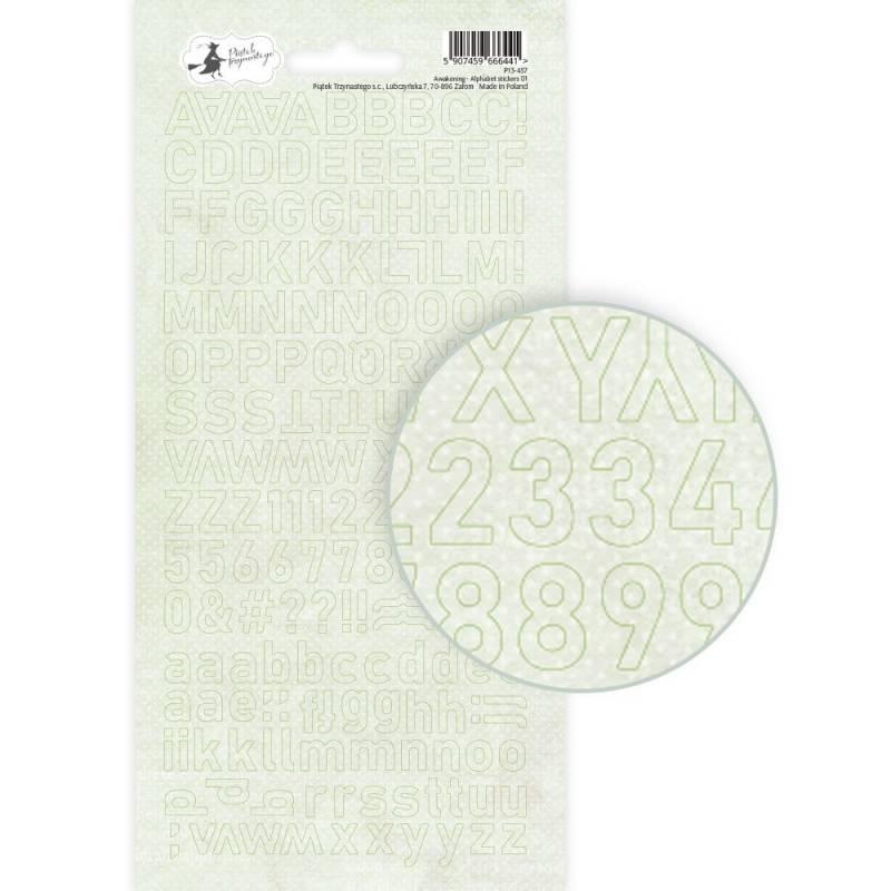 Arkusz naklejek z literkami Awakening 01, 10,5 x 23cm