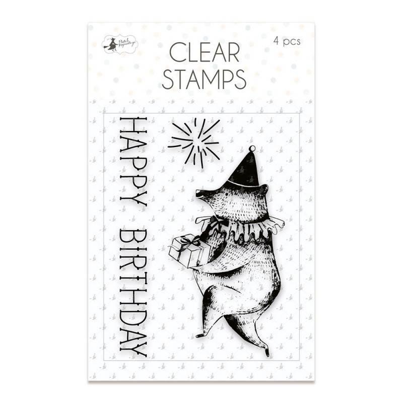 Zestaw stempli Happy Birthday 01, 4 szt.