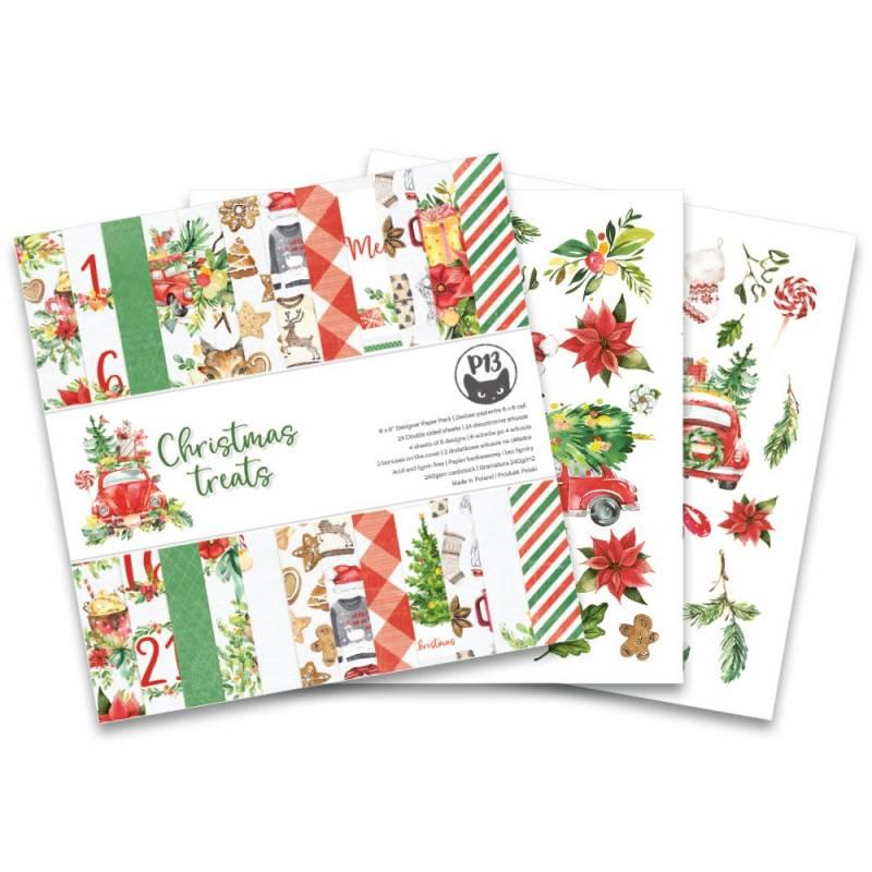 """Bloczek papierów Christmas treats, 6x6"""""""