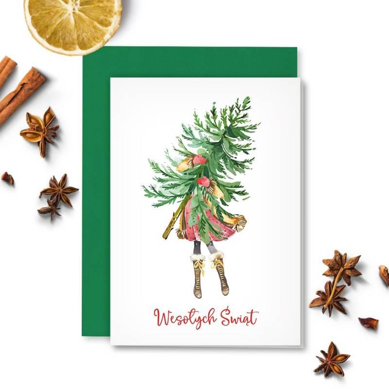 Karta z kopertą Christmas treats 01, A6